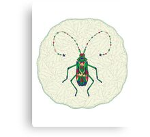 Green Insect Design Canvas Print