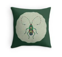 Green Insect Design Throw Pillow