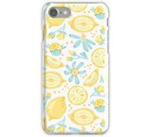 Lemons & Flowers Pattern iPhone Case/Skin