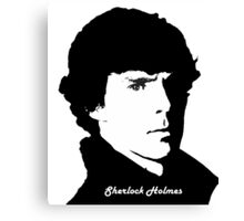 Face Of SherLock Canvas Print