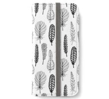 Seamless pattern of hand drawn feathers iPhone Wallet/Case/Skin