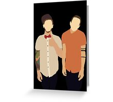 Tyler and Josh Greeting Card