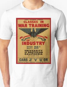 Vintage poster - War Training Unisex T-Shirt