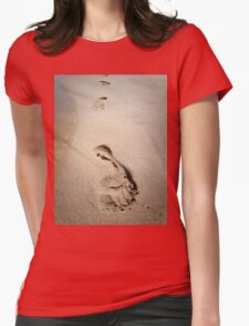 footprints Womens Fitted T-Shirt
