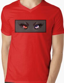 Demon Eyes Mens V-Neck T-Shirt
