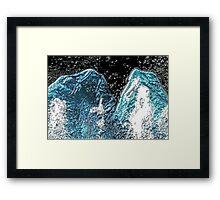 Glassy Framed Print