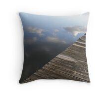 River stillness Throw Pillow
