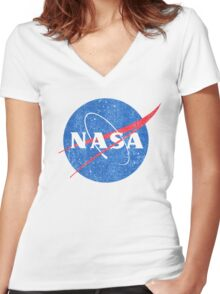Vintage NASA Women's Fitted V-Neck T-Shirt