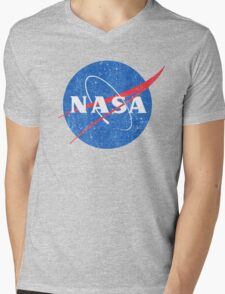 Vintage NASA Mens V-Neck T-Shirt
