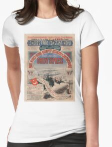Vintage poster - Orient Express Womens Fitted T-Shirt