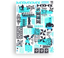 Moana blue print Canvas Print