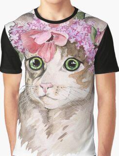 Flower cat Graphic T-Shirt