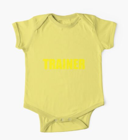 Trainer (Yellow) One Piece - Short Sleeve