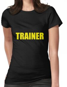 Trainer (Yellow) Womens Fitted T-Shirt
