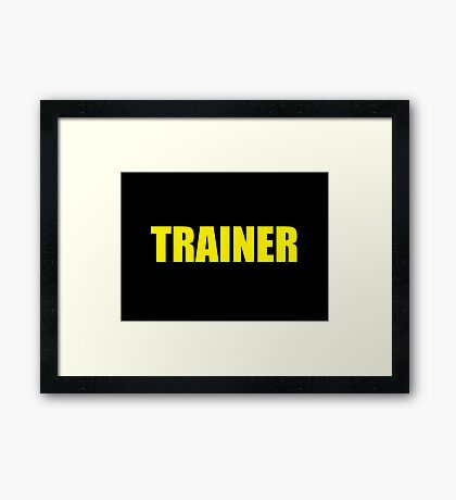 Trainer (Yellow) Framed Print