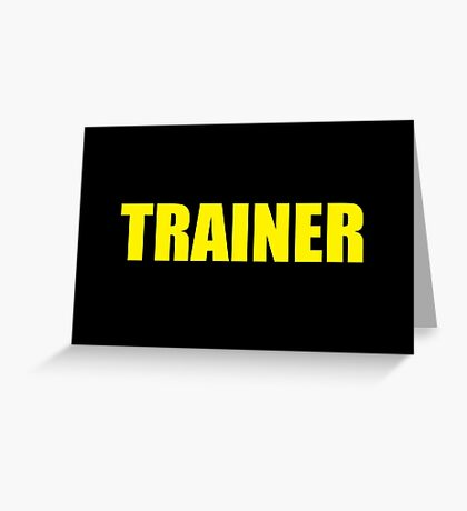 Trainer (Yellow) Greeting Card