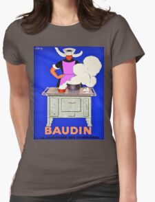 Vintage poster - Baudin Womens Fitted T-Shirt