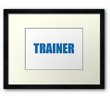 Trainer (Blue) Framed Print