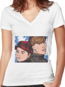 Pete & Pete Women's Fitted V-Neck T-Shirt