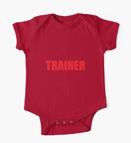 Trainer (Red) One Piece - Short Sleeve