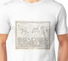 Vintage Map of The Lakes and Islands of The World Unisex T-Shirt