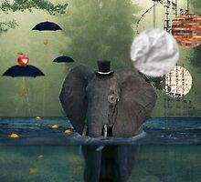 Elephant & Lemons by kazykim13