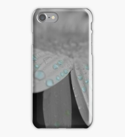 black/white flower iPhone Case/Skin