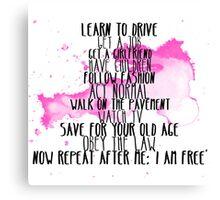 I Am Free Canvas Print