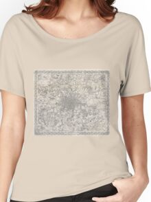 Vintage Map of London England (1855) Women's Relaxed Fit T-Shirt