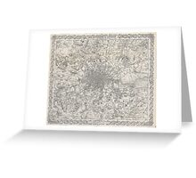 Vintage Map of London England (1855) Greeting Card
