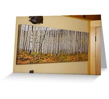 Aspen And Ferns (A 60 x 20 canvas print galley wrapped) Greeting Card