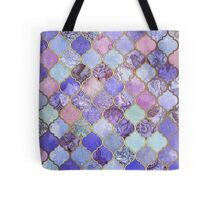 Royal Purple, Mauve & Indigo Decorative Moroccan Tile Pattern Tote Bag