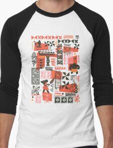 Moana Red Print Men's Baseball ¾ T-Shirt
