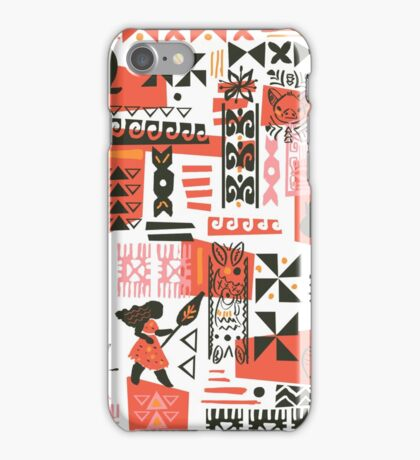 Moana Red Print iPhone Case/Skin