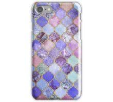 Royal Purple, Mauve & Indigo Decorative Moroccan Tile Pattern iPhone Case/Skin