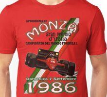 Monza F1 1986 Unisex T-Shirt