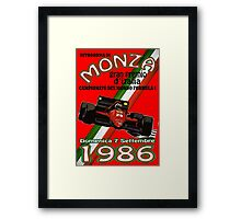 Monza F1 1986 Framed Print