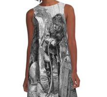 Early deep sea divers - Moire effect - Optical illusion A-Line Dress