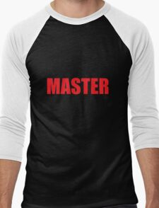 Master (Red) Men's Baseball ¾ T-Shirt