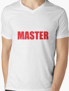 Master (Red) Mens V-Neck T-Shirt