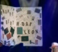 Leon Russell Giant Birthday Card Rock & Roll Poster Art and Photograph by L. R. Emerson II, 1993 Sticker