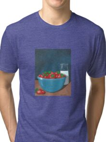 Strawberries and Cream Tri-blend T-Shirt