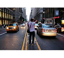 In the middle of a Street NYC Photographic Print