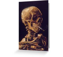 Vincent Van Gogh's 'Skull with a Burning Cigarette'  Greeting Card