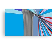 Red, White and Blue Break Canvas Print