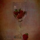 Strawberry Still Life II by Sandra Cockayne
