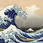 'The Great Wave Off Kanagawa' by Katsushika Hokusai (Reproduction) by Roz Abellera Art
