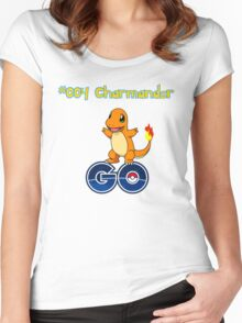 004 Charmander GO! Women's Fitted Scoop T-Shirt