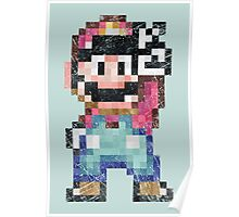 Mario World Vintage Pixels Victory Poster