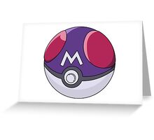 Pokemon Masterball Greeting Card